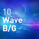 Wave Space Abstract Backgrounds