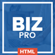 BizPro – Multipurpose HTML Template for any Company
