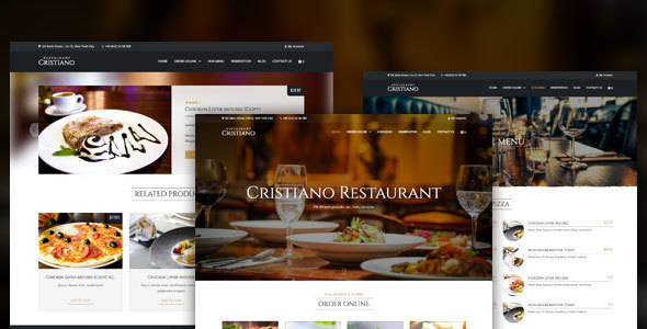 Download Cristiano - Restaurant WordPress WooCommerce Theme nulled download