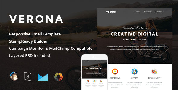 Image of Verona - Responsive Email + StampReady Builder