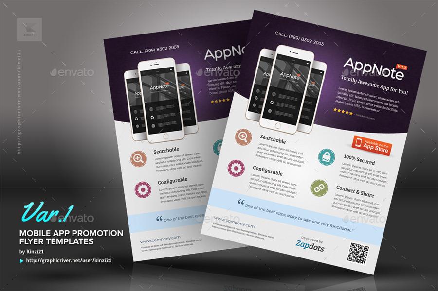 mobile app promotion flyers by kinzi21