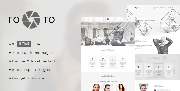 Footo Photography HTML Template