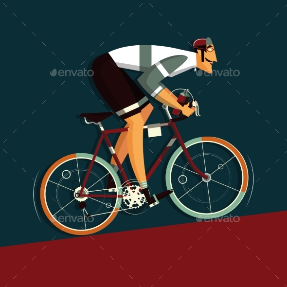 Cyclist Athlete Cartoon