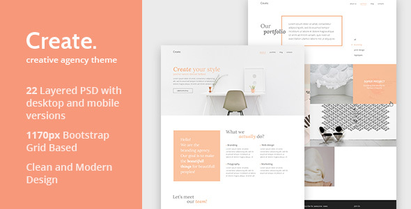 Create – Creative Agency PSD Template