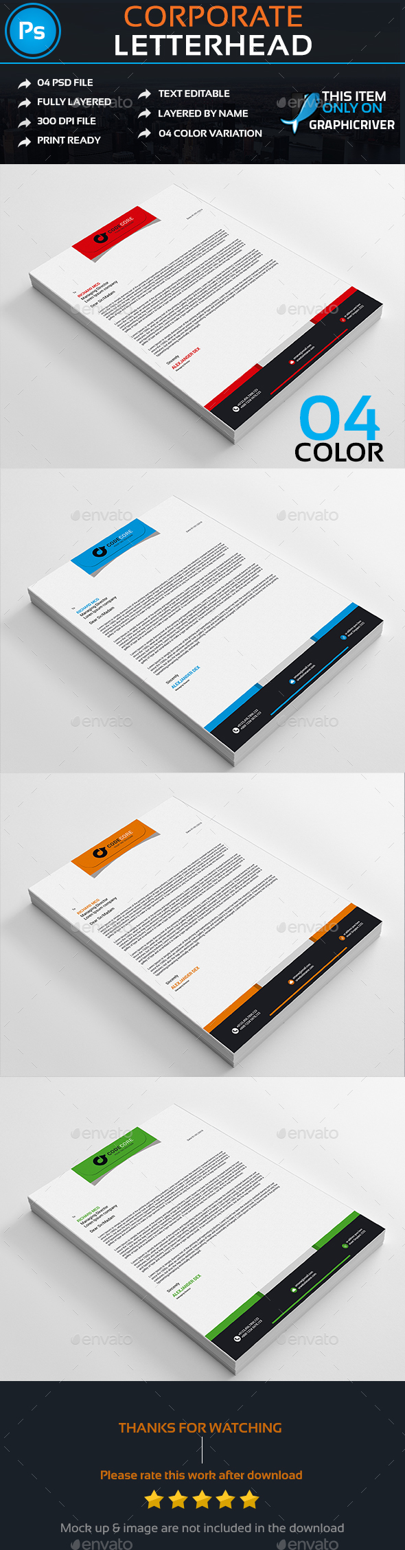 Corporate  Letterhead (Stationery)
