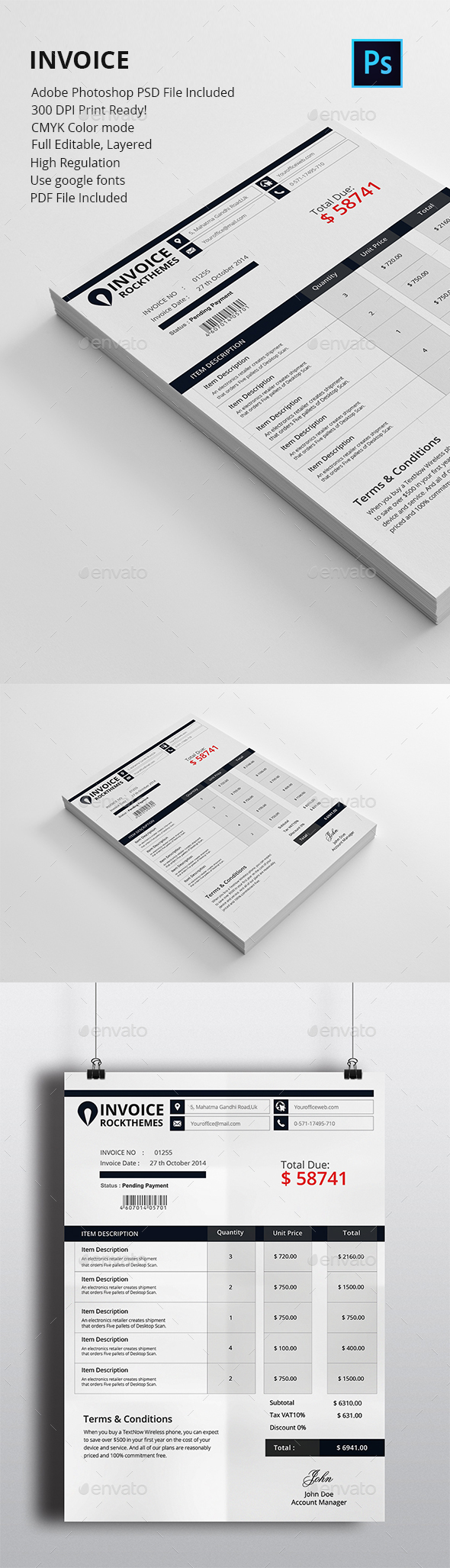 Invoice Stationery and Design Templates from GraphicRiver (Page 11)