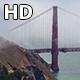 Foggy Golden Gate Bridge Close