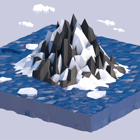 Low Poly Iceland - 3DOcean Item for Sale