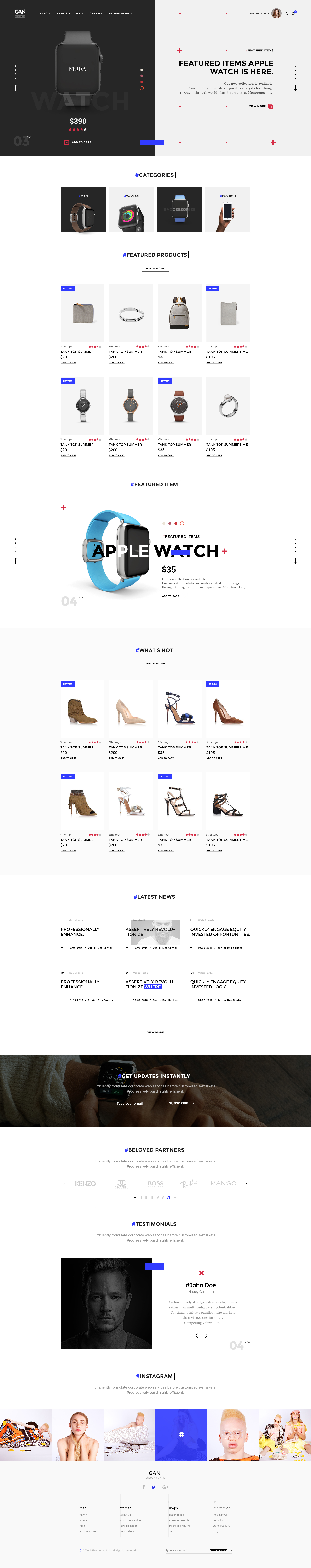gan ultimate shopping ecommerce psd template by themeton themeforest. Black Bedroom Furniture Sets. Home Design Ideas