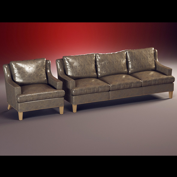 Quality model of classic set sofa, chair - 3DOcean Item for Sale
