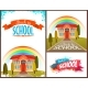 Back To School Banners And Poster Set. Vector