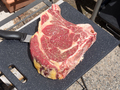 beautiful rib of beef to cook on the barbecue