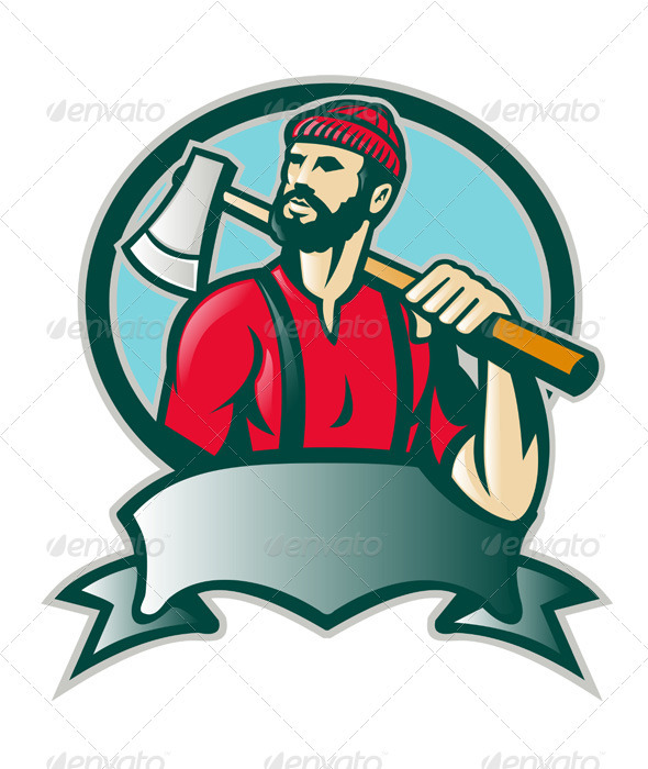 Lumberjack Woodcutter Forester With Axe
