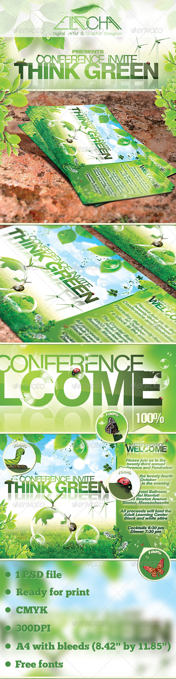 Green Promotion Flyer Template - Corporate Flyers