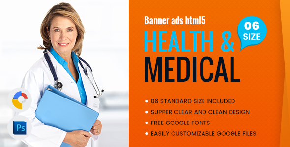 Download Health & Medical Banners HTML5 - GWD