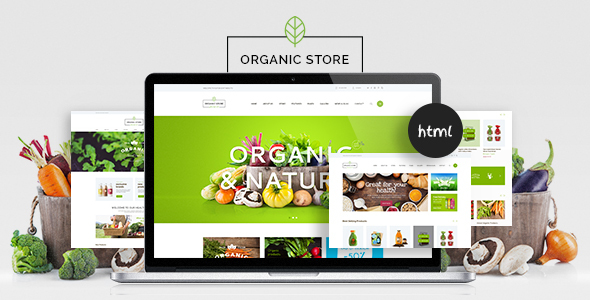 Organic Food & Eco Products Site Template