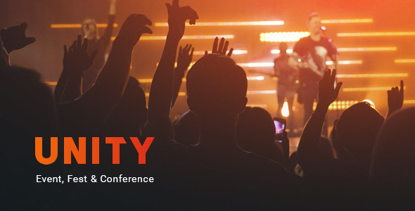 Unity – Event, Fest & Conference PSD Template