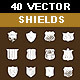 40 Vector Shield Shapes - GraphicRiver Item for Sale