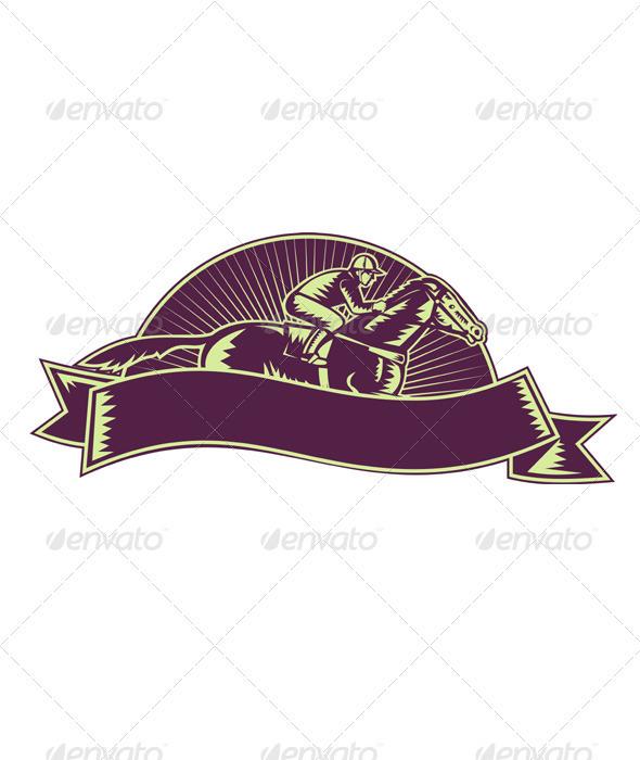 Horse Jockey Logo Graphicriver Jockey And Horse
