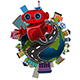 Robot on the Globe