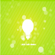 White light bulb silhouette on green background - GraphicRiver Item for Sale