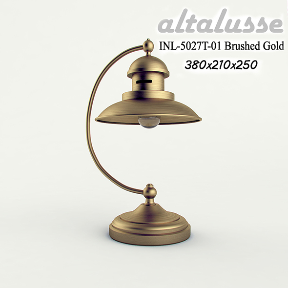 Desk lamp Altalusse INL-5027 Brushed Gold - 3DOcean Item for Sale