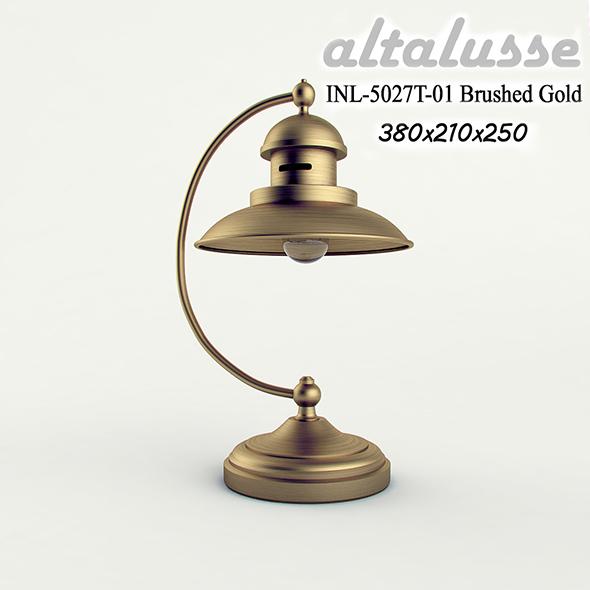 3DOcean Desk lamp Altalusse INL-5027 Brushed Gold 17411919