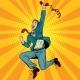 Download Vector Joyful Retro Man With a Handset