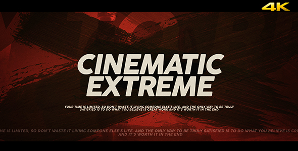 Download Cinematic Extreme Trailer/Opener nulled download
