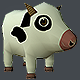 Mini Cow Low Poly