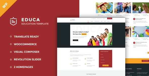 Download Educa - Education, Courses and Events WordPress Theme nulled download