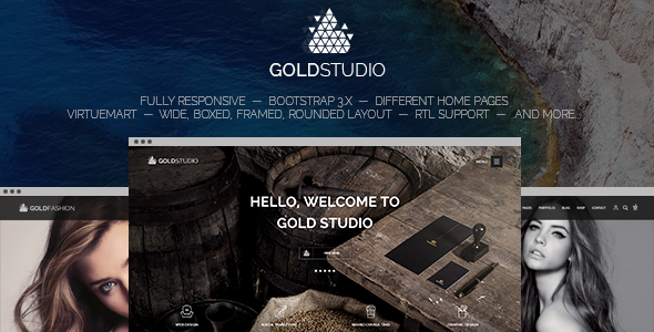 Gold - Responsive Virtuemart Joomla Template