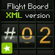 Terminal flight board text animation XML version