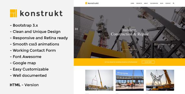 Konstrukt - HTML5 Construction & Building Template