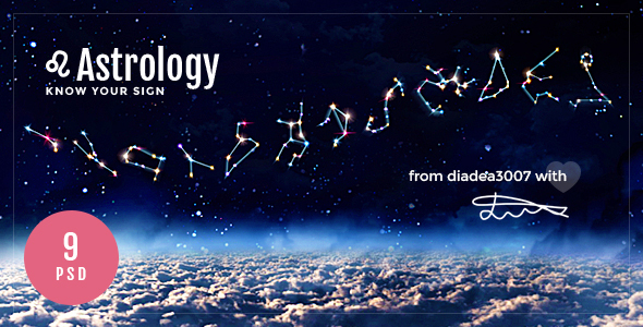 Astrology - Horoscope & Astrology PSD Template