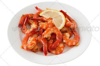 shrimps with lemon