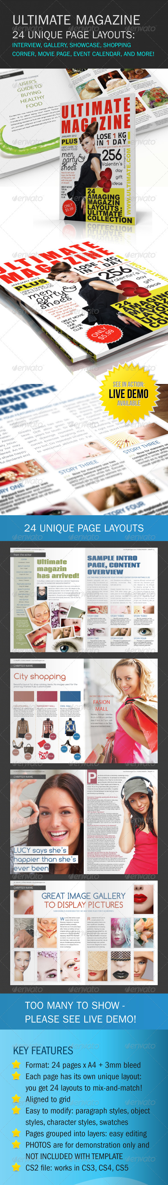 GraphicRiver Ultimate Magazine 24 layouts 157063