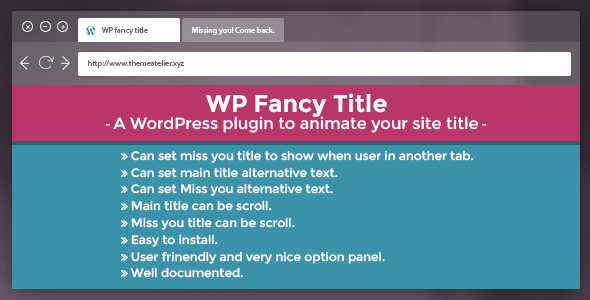WP Fancy Title Plugin