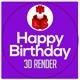 Happy Birthday 3D Render