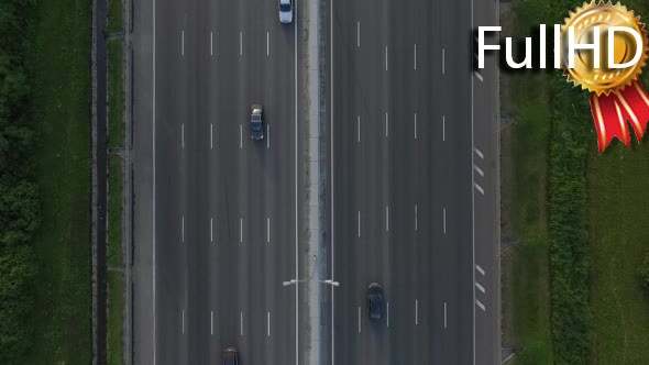 Download Aerial View of Traffic on the Motorway nulled download