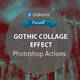 Gothic Collage Effect Photoshop Action Vol.3