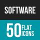 Software Development Flat Multicolor Icons