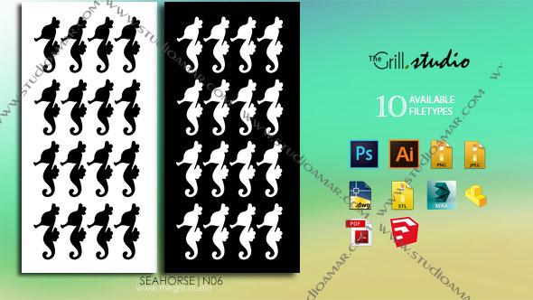 3DOcean seahorse 3D screen PD N06 17429756