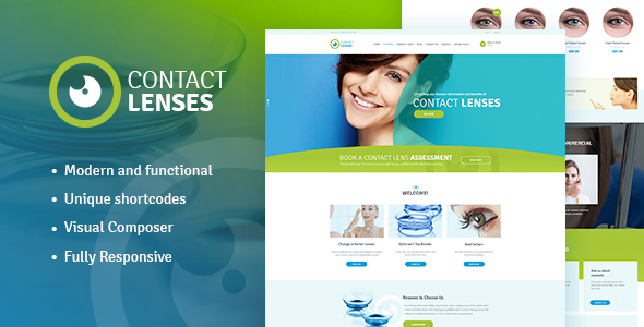 Download Contact Lenses Store & Vision Therapy Clinic WP Theme nulled download