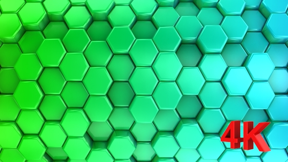 VideoHive Animated Colored Honeycombs 17430713