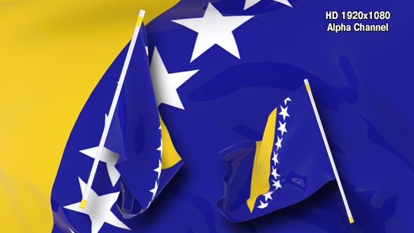 VideoHive Flag Transition Bosnia and Herzegovina 17430738