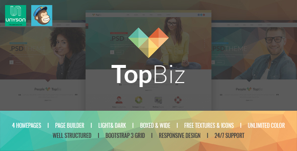 TopBiz - Responsive Corporate WordPress Theme
