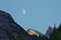 Dolomites and moon