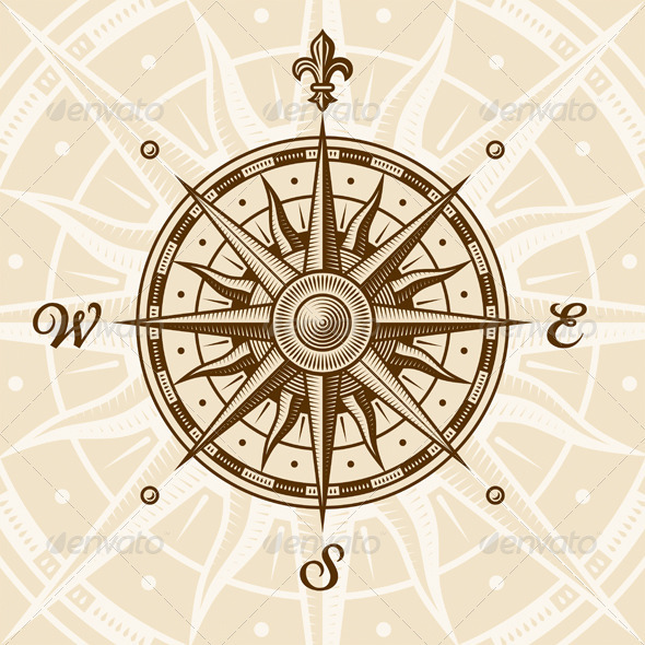 GraphicRiver Vintage Compass Rose 1734475