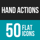 Hand Actions Flat Multicolor Icons